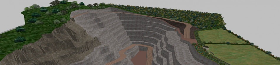 Quarry design using LSS