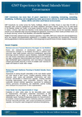 GWP Small Islands Water Governance Feb14